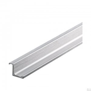 Furniture handle Edge Cover 296 Silver Steel