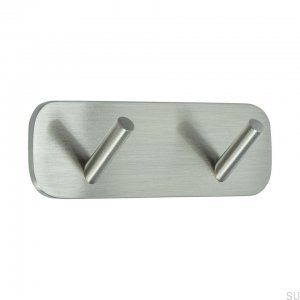 Hook Solid 2 Brushed Steel