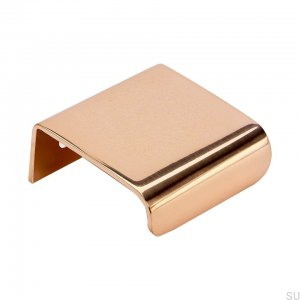 Furniture handle Edge Lip 40 Copper Polished