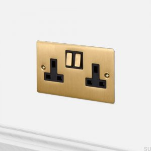 Socket 2G Uk Socket Brass