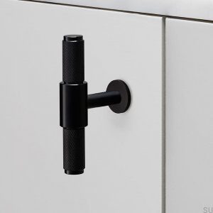 Furniture handle T-Bar Black Metal