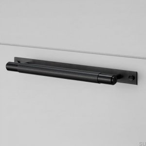 Furniture handle  with plate Pull Bar Medium 225 Black Metal