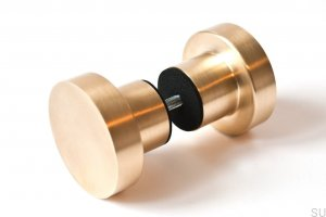 Furniture knob Drzwiowa Dot 50 Brass Brushed 50X33mm