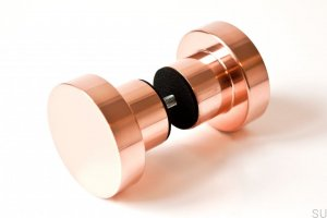 Furniture knob Drzwiowa Dot 50 polished copper 50X33mm