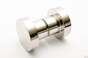 Furniture knob Drzwiowa Dot 50 polished Steel stainless 50X33mm