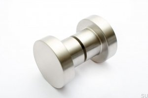 Furniture knob Drzwiowa Dot 50 Brushed Steel stainless 50X33mm