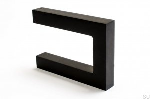 Hook Square Black Metal varnished