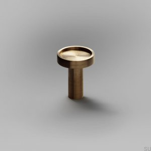 Furniture knob Ina S Gold Brass Brushed