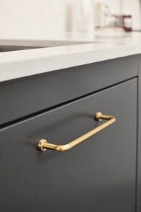 Furniture handle Long Lounge 160 Brass Brushed