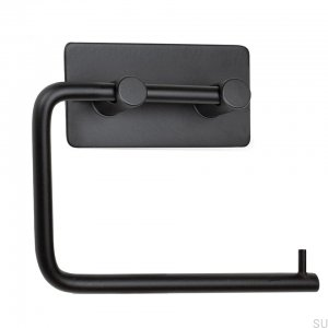 Base 200 klasyczny Toilet roll holder Black mat