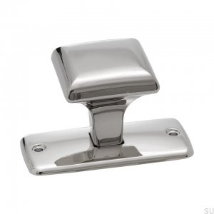 Furniture knob Platta 25568 Silver Nickel Polished