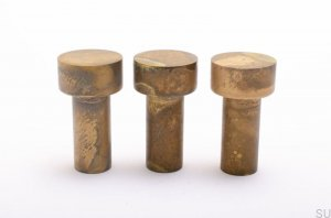 Hook Furniture knob Dot 55 Brass patinated