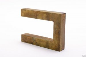 Hook Square Gold Brass patinated