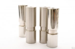 Cylinder 100 noga do mebli Brushed Steel stainless