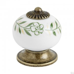 Furniture knob 8131 Ceramic Antique Gold