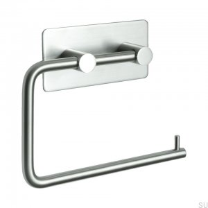 Base 200 klasyczny Toilet roll holder Steel Brushed
