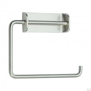 Solid Toilet roll holder Steel Brushed