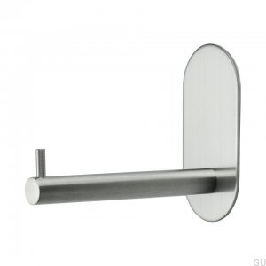 Base 100 wystający Toilet roll holder Steel Brushed