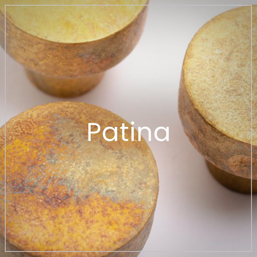 Limited edition of brass patina products